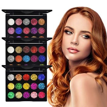 15 Colours Diamond Glitter Eye Shadow Sequins Pearl Powder High-gloss