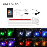 Music Control LED lights 7 Colors Car Styling Atmosphere Interior Light W/Remote