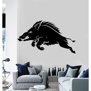 Vinyl Wall Decal Pig Wild Boar Hunting Shop Tribal Animal Stickers Mural (g2772)