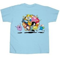 Changes Adventure Time Group Roll T-Shirt Blue