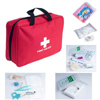Outdoor First Aid Kit Bag 200 pieces Portable for Camping Hiking Boating Fishing