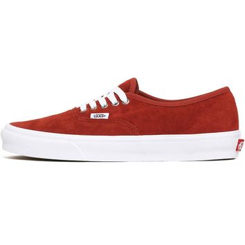 Pig Suede Authentic Sneakers Burnt Brick / True White