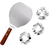Hampton Direct Set of 3 Six-Sided Cookie Cutters w/ Cookie Spatula - SAVE 50%