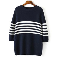 Colorblocked Stripe Sweater