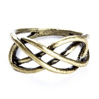 Brandy ♥ Melville |  Brass Infinity Ring - Accessories