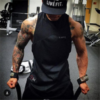 HZIJUE 2017 Men's Brand Designer LVFT Sleeveless Vest Available with or without Hoodie