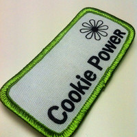 Vintage Girl Scouts Patch Cookie Power