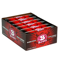 Bubblicious Bubble Gum Bursts Packs - Cherry: 12-Piece Box