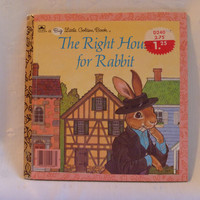 Golden Book | The Right House For Rabbit | 1986 Big Little Golden Book