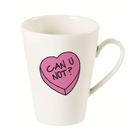 Can U Not? Candy Heart Latte Mug