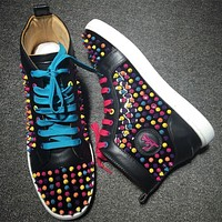 Cl Christian Louboutin Louis Spikes Style #1847 Sneakers Fashion Shoes