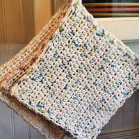Standard Crocheted DIshcloth 3 pack - Made To Order - Custom Order - Crochet DIshcloths - 100% Cotton DIshcloths - Housewarming Gift