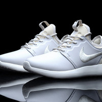 """NIKE"" Winter Trending Fashion Knitting Logo Casual Sports Shoes White"