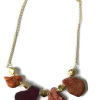 Sunrise Stone Statement Necklace