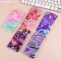 EVANKALX For iPhone 6 6s 8 6/6s/7/8 Plus Granite Scrub Marble Stone Painted Soft Silicone Phone Case For iPhone 7 case