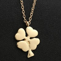 Jewelry Gift New Arrival Shiny Stylish Winter Leaf Creative Design Pendant Necklace [6033884929]