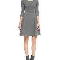 Milly Textured Fit And Flare Dress