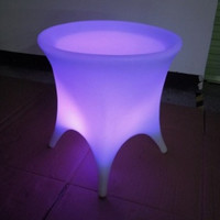 48-LED Color-Changing Side Table at Brookstone—Buy Now!
