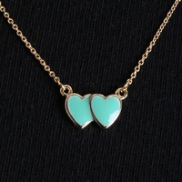 Mint Mini In Love Heart Charm Necklace and Shop Accessories at MakeMeChic.com