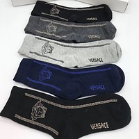 Versace Men Fashion Casual Cotton Knitwear Socks Stockings