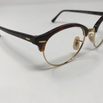 Ray-Ban RB 4246 990 Clubround Tortoise Gold Sunglasses Frame Only 51mm LL80