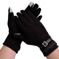 New Women's Winter Mittens Full Finger Touch Screen Gloves With Lace VVF = 1958129860