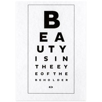 Beauty Eye Chart Postcard