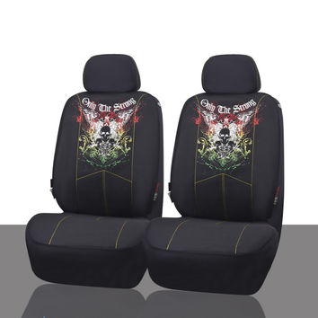 Scorpion Skull Design Hot Car Seat Covers Mesh Fabric Auto Interior Styling Decoration Protector Seat Covers