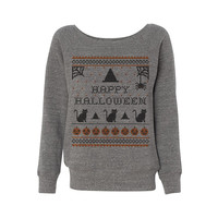 Happy Halloween Wideneck Sweatshirt