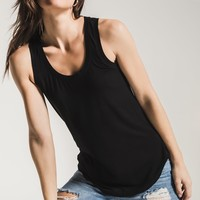 The Sleek Jersey Tank- Black