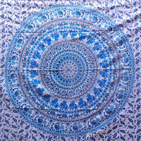 Elephant Tapestry, Mandala Tapestry, Throw, Bohemian, Bedspread, Tapestry, Picnic Blanket, Hippie Tapestry, Wall Hanging, Home Decor - EPS#2