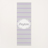 Lavender Gray White Chevron Personalized Yoga Mat
