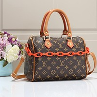LV Bag Louis Vuitton Bag Handbag Chain Bag Crossbody Bag Coffee