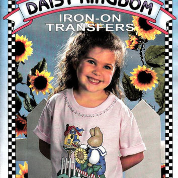 90s Daisy Kingdom Iron On Transfers Book 170 Pages Fabric Paint Appliques Embroidery Infants Childrens Holidays Reusable Over 150 Designs