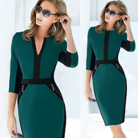 Belted Elegant Business or  Casual Party Pencil Dresses