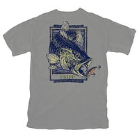 Bass & Lure T-Shirt in Grey by Fripp Outdoors