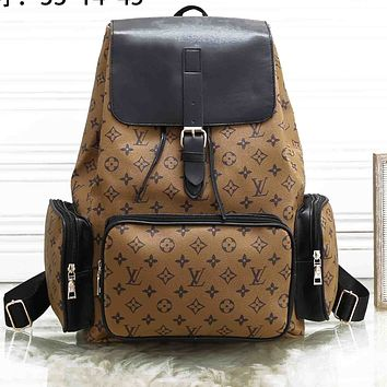 LV Louis Vuitton Classic Men's and Women's Backpacks Large Capacity Travel Bags School Bags