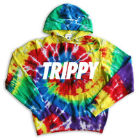 Trippy Tie Dye Hoodie Tumblr Inspired Hipster Music Festival Summer
