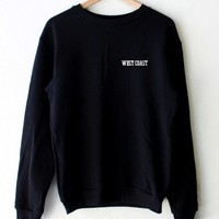 West Coast Oversized Sweatshirt - Black