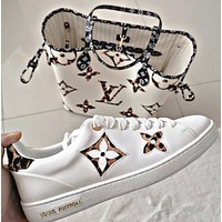 Louis Vuitton LV Leopard Contrast Shoes White broan tail