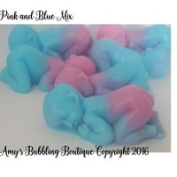 Gender Reveal Baby Shower- Scented Baby Soaps for It's A Boy or Girl Baby Shower Favors for Guest Gift Custom Made - Pack of 20