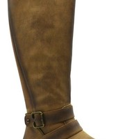Tall Ankle Strap Wide Calf Boots