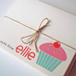 Personalized Kid's Stationery - Cupcake - Girl's Custom Note Cards - Set of 10 With Envelopes