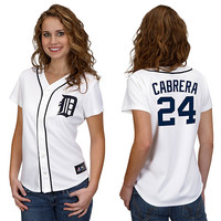 Detroit Tigers Miguel Cabrera Women's Player Replica Jersey by Majestic Athletic - MLB.com Shop