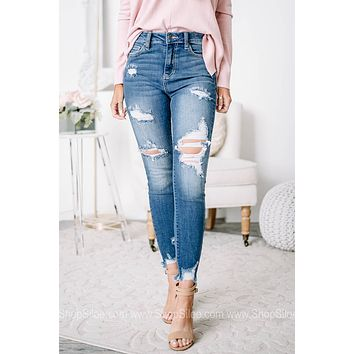 All Good Things High Rise Distressed Skinny Jeans