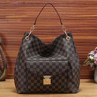 LV Louis Vuitton printed letters shopping shoulder bag messenger bag shopping bag handbag