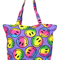 Girl Junk Purple Rainbow Smile Tote Bag | Mod Angel