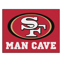 San Francisco 49ers NFL Man Cave All-Star Floor Mat (34in x 45in)