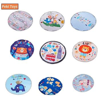 Round Floor Crawling Play Mats Non Skid