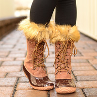Snowed In Boots- Brown